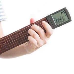 Image 2 - סולו נייד גיטרה אקורד מאמן כיס בפועל גיטרה כלים LCD מוסיקלי כלי מיתר אקורד מאמן כלים למתחילים