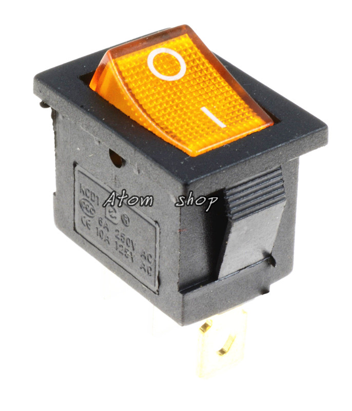 Off 3-Pin SPST Large Rectangle Rocker Switch LED Lighted Car Dash Boat On