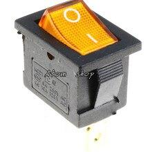 1 шт. желтый 3PIN горит светодиодный прямоугольный рокер переключатель Автомобильный видеорегистратор Автомобильная 6A 250VAC/10A 125VAC SPST KCD1