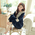 Yomrzl L673 2016 nueva llegada del resorte y otoño ropa de dormir de algodón pijama de mujer princesa real de manga larga ropa de dormir