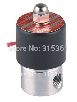Free Shipping 5PCS Lot 2 Way Solenoid Valve 1 4 Ports Stainless Steel Normally Closed FKM