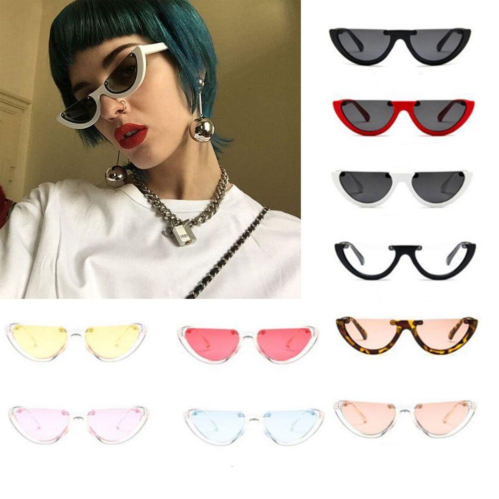 Women Small Cat Eye Sunglasses Half-rimmed Women Brand Designer Ladies Sun Glasses Vintage Sexy Glasses Travel Accessories