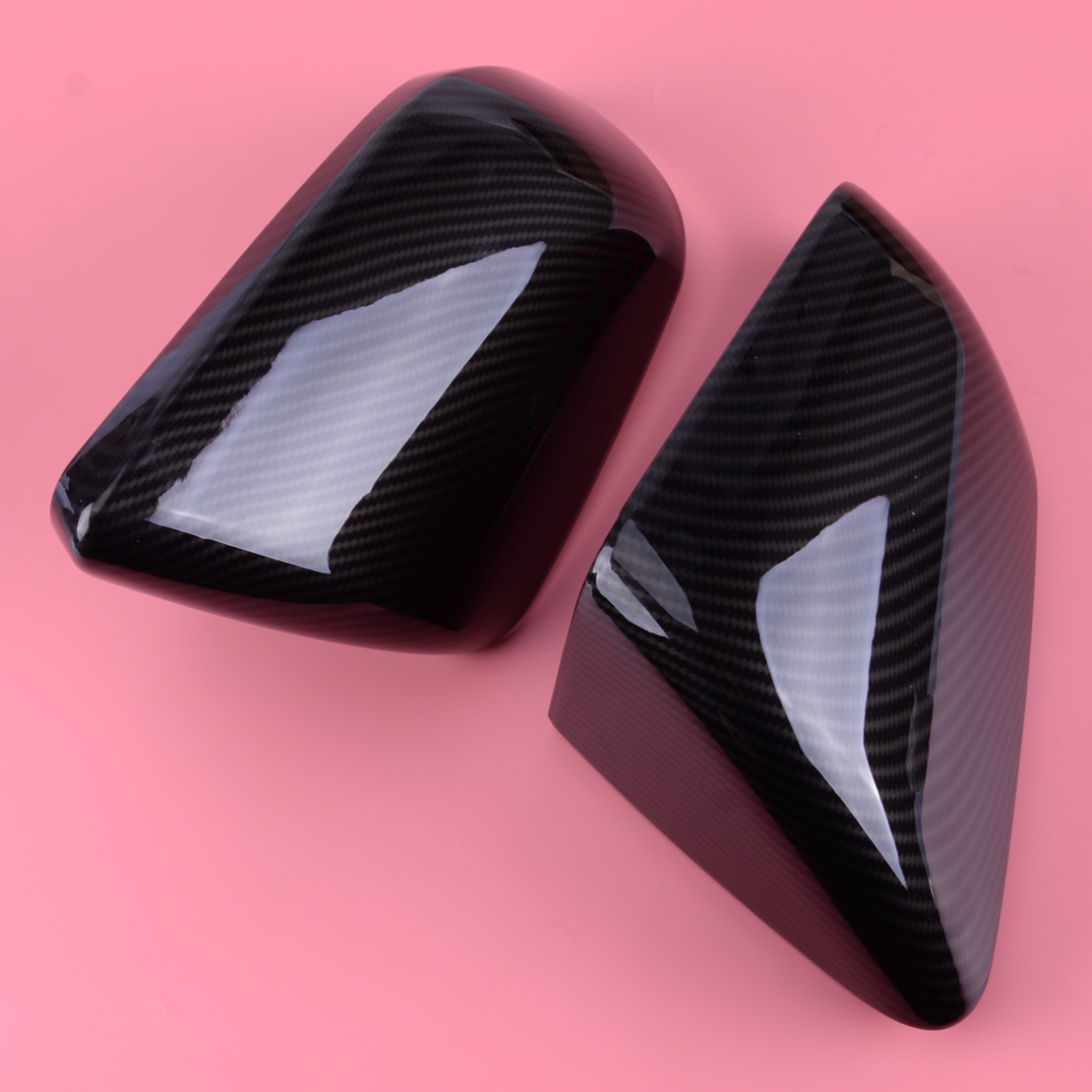 Fit For Ford Mustang 2015 2019 Carbon Fiber Style Outside Exterior Side Rearview Mirror Cover Trim