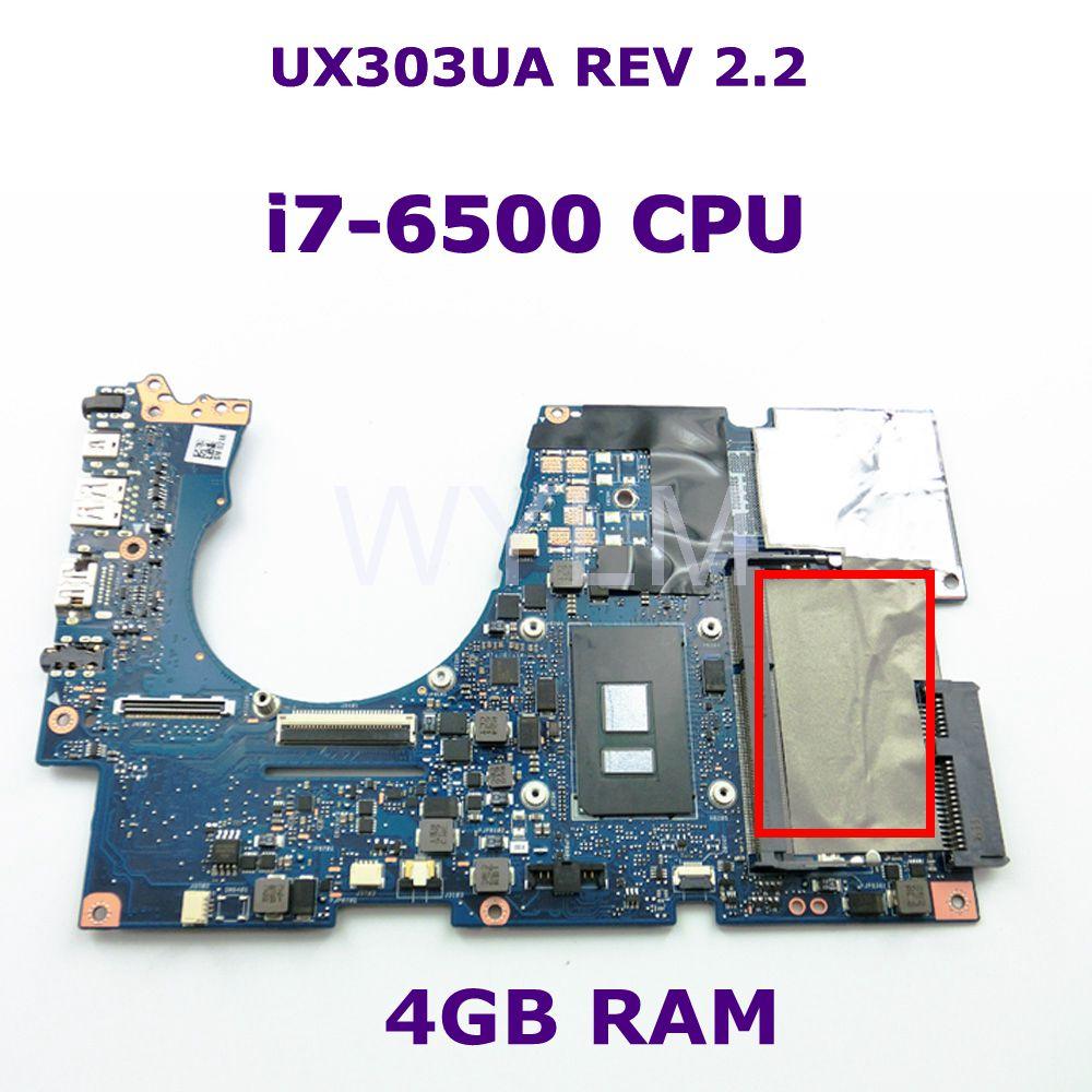 UX303UA Avec i7-6500 CPU DDR3L 4 gb RAM carte mère REV 2.2 Pour ASUS UX303U UX303UA UX303UB mère d'ordinateur portable Testé livraison gratuite