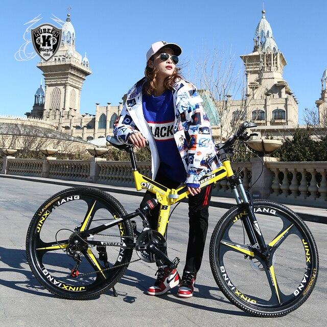 Kubeen горный велосипед 26-дюймовый стальной 21-скорость велосипеды двойной дисковые тормоза с переменной скоростью дорожные велосипеды гоночный велосипед