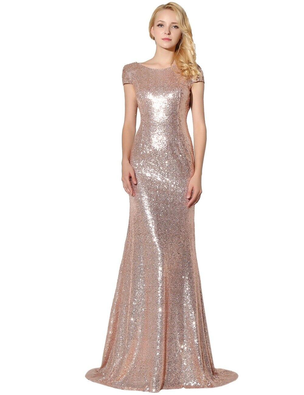 H007 champagne sequin bridesmaid dresses 2017 vestido de for Wedding party dresses 2017