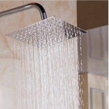 High Quality New 6/8/10/12/16 inch 304 stainless steel Square Shower head Ultrathin Rainfall Shower Head Bathroom shower head