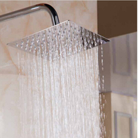 High Quality New 6 8 10 12 16 Inch 304 Stainless Steel Square Shower Head Ultrathin
