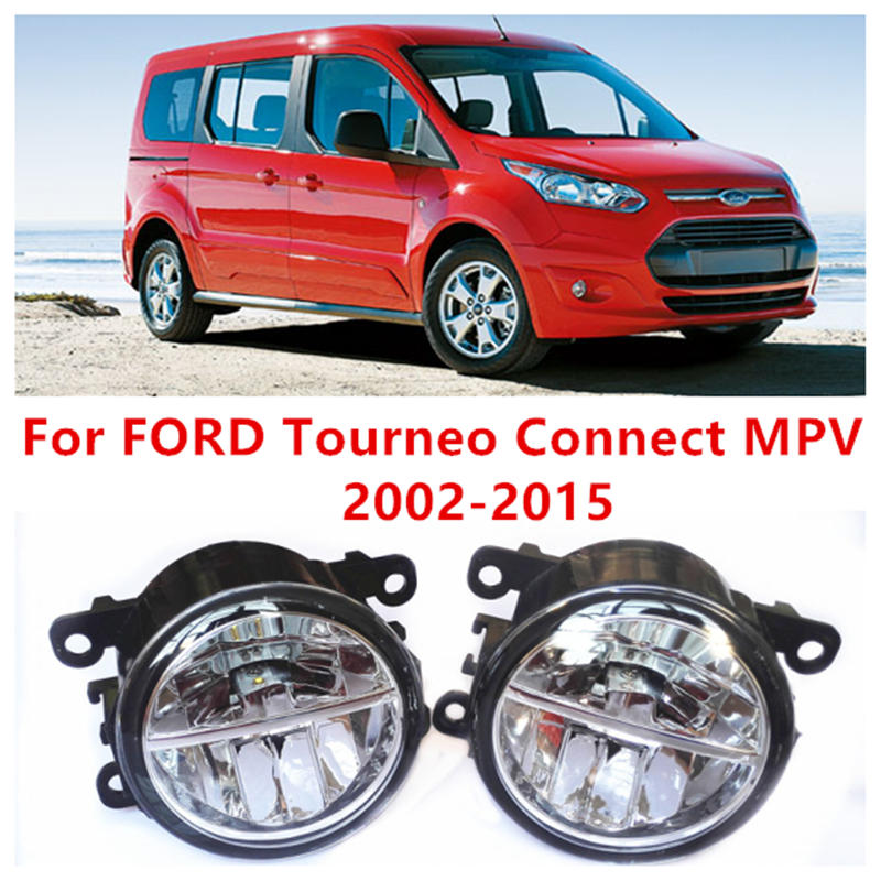 For FORD Tourneo Connect MPV  2002-2015 Fog Lamps LED Car Styling 10W Yellow White 2016 new lights for ford fiesta van box 2009 2015 fog lamps led car styling 10w yellow white 2016 new lights
