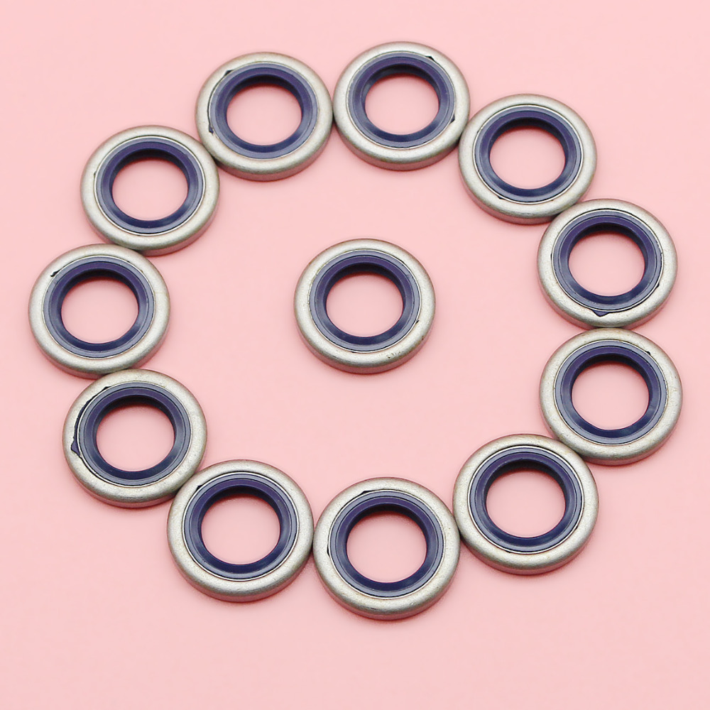 12pcs/lot Crank Oil Seal For Husqvarna 40 45 51 55 254 257 262 357 359 Chainsaw Garden Tool Spare Part 505275719