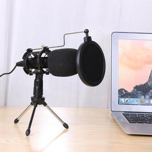 Image 5 - ALLOYSEED micrófono USB condensador de mano con cable, con soporte plegable, parabrisas para chat de PC, 170x32x32mm
