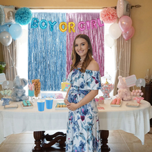 Boy or Girl Baby Shower Banner 1st Birthday Party Decoration Kids Gender Reveal Supplies Garlands Bunting F