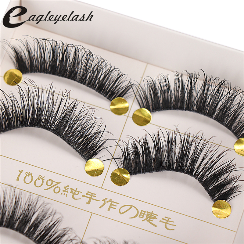 5 Pair Natural False Eyelashes Soft Long Eyelash Fake Eye Lashes Extension Tools Makeup False Eyelashes Extension False Eyelash