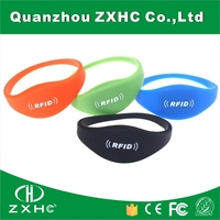 (100PCS) Custom Debossed Logo 13.56mhz RFID Red Silicone Wristband F08 S50 For Events