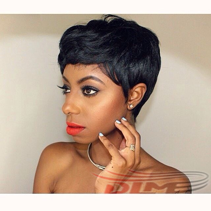 Brazilian 27 Pieces Short Hair Weave With Free Closure