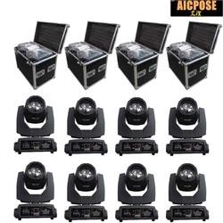 8 unidades/lotes 230w 7r feixe de luz com caso do vôo dmx512 controle movendo a cabeça luzes palco profissional festa iluminação palco effecte