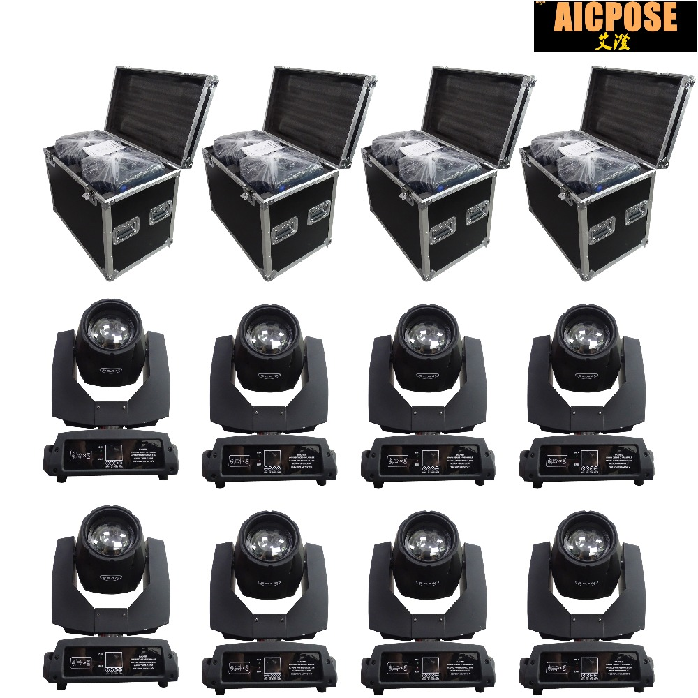8pcs/lots 230w 7r Beam Light With Flight Case DMX512 Control Moving Head Lights Professional Stage Party Stage Lighting Effecte