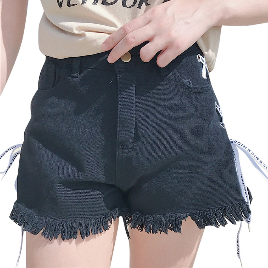 JAYCOSIN Sexy High Waist Bandage Denim Ripped Short Jeans Women Mini Skinny Sexy Shorts New White Blue Black dropshipping 522W