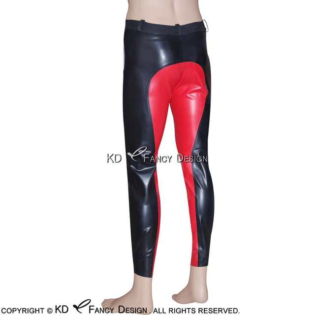 83881c75612a35 Online Shop Black With Red Trims Sexy Latex Leggings with Zipper Rubber  Pants Jeans Trousers Plus Size CK-0009 | Aliexpress Mobile