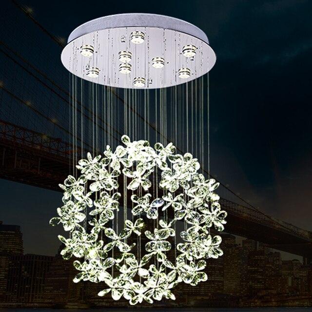 US $292.0 |Bella design moderno lampadario di cristallo HA CONDOTTO le luci  per soggiorno camera da letto illuminazione in Bella design moderno ...