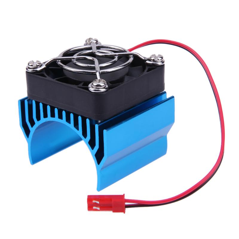 2018 New Arrival RC Parts Electric Car Motor Heat Sink Cover with Cooling Fan for 1:10 RC Car Useful RC Car Accessories Parts