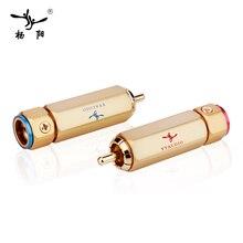 4 pçs/lote YYAUDIO Conectores RCA Banhados A Ouro Conector RCA Bloqueáveis Plug