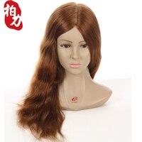 Мастер 20 дюймов Парикмахерские Куклы головы женский манекен парикмахерские Стайлинг Учебные головы манекены плечо 100 Человеческие волосы