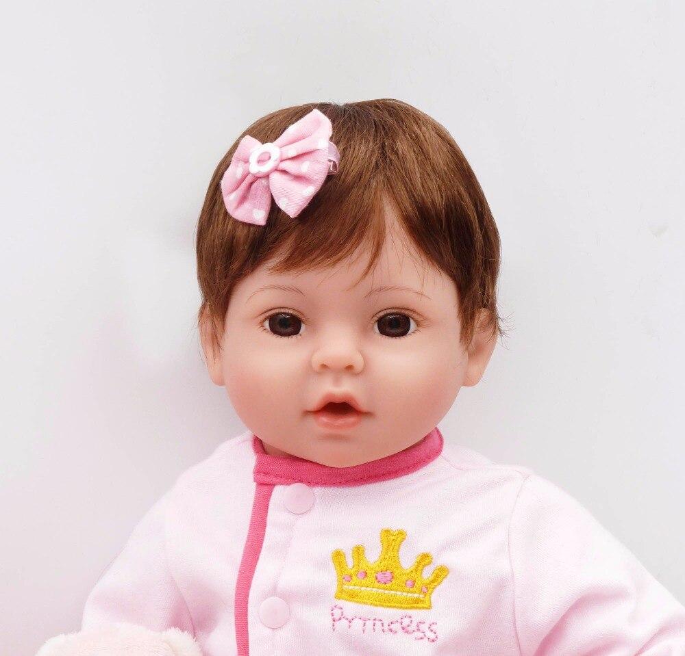 41CM bebe Silicone Reborn Baby Dolls with Pink sleeping bag Adorable Lifelike Baby Dolls Bonecas Girl Surprice lol Doll Toys