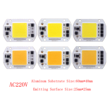 10PCS/LOT LED Lamp Chip COB 15W 25W 30W 50W AC220V Cold/Warm White Smart IC For DIY Spotlight Floodlight