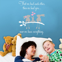 Love Quotes First We Had Each Other Wall Decals Family Rabbits On The Branch Heart Vinyl