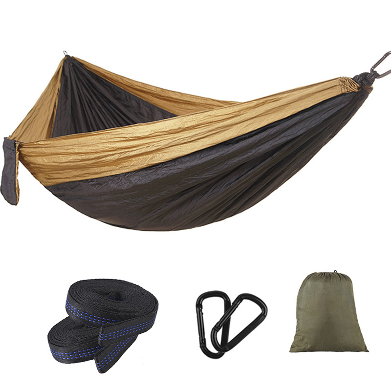 Image 4 - VILEAD 275*140 Camping Hammock Ultralight Portable Stable Outdoor Backpacking Travel Sleeping Bed Cot With 2 Straps 2 Carabiners-in Camping Cots from Sports & Entertainment