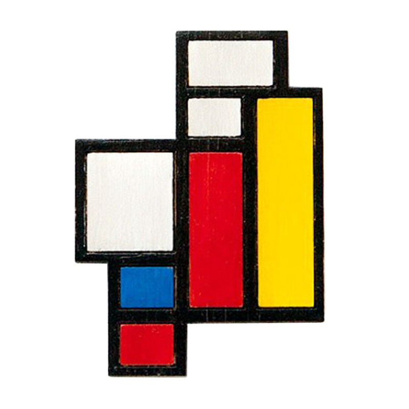 Mondrian Pin-in Pins & Badges from Home & Garden