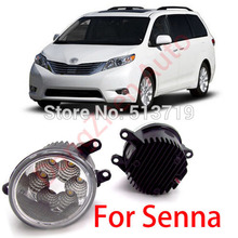 2015 new auto accessories car LED front fog lights strobe line group For Toyota Senna 2012 car styling parking