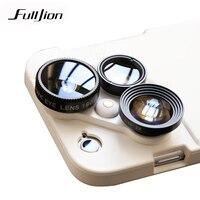Fulljion 4 In 1 Mobile Phone Lensese Case Full Cover For IPhone X 8 7 6S