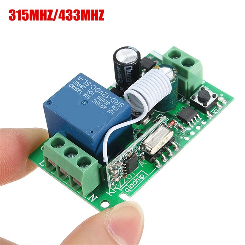 Smart Product 315/433MHZ 220V 1 Channel Wireless Relay RF Remote Control Switch Heterodyne Receiver Top Sale