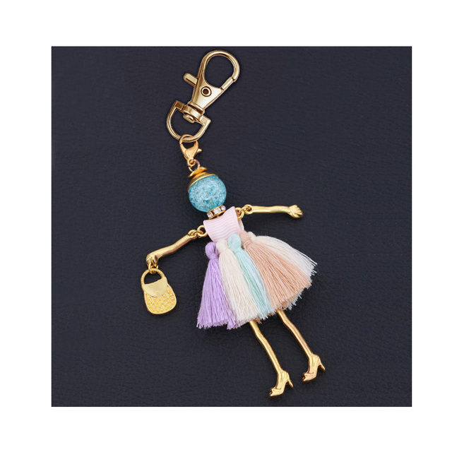 statement fashion women key chain new design keychain holder pendant charms jewelry key ring bag keyrings lady accessory 4