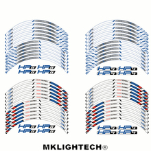 12 X Thick Edge Outer Rim Sticker Stripe Wheel Decals Motorcycle protection For BMW HP4 HR6 17
