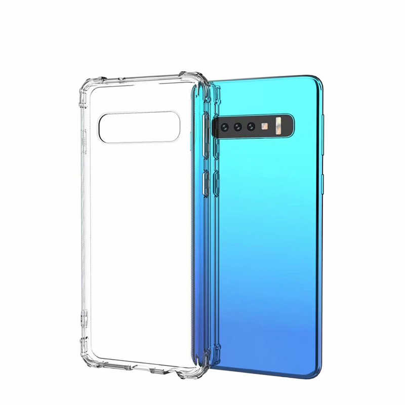 For Samsung S10E Clear Soft Silicone Case For Samsung Galaxy S10 S9 S8 Plus Note 8 9 M10 M20 A6 A8 Plus A7 2018 ShockProof Cover