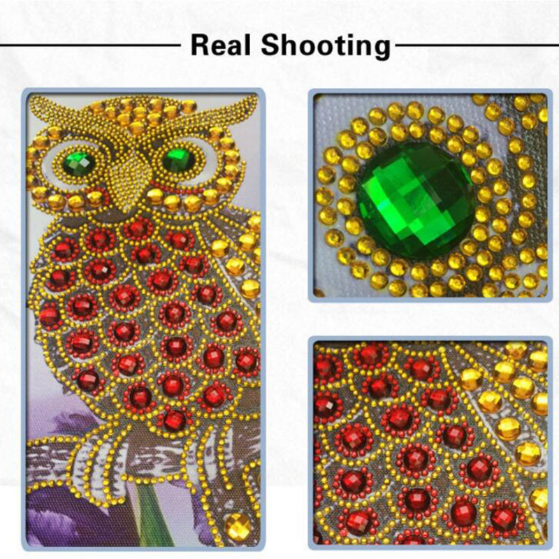 NEW Special Shapes Diamond Embroidery Cartoon Owl Patterns Rhinestones 5D DIY Diamonds, Cross-stitch Semi-finished Decor <font><b>H002</b></font> image