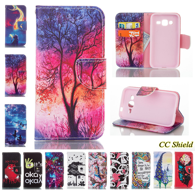 Flip Case For Samsung Galaxy Core Prime SM-G360F G360H/DS SM-G360H/DS SM-G360H wallet card slot phone case For G361 G361F cases