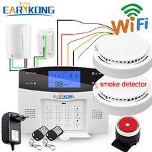 Système d'alarme de sécurité domestique filaire et sans fil, wi-fi PSTN/GSM, 433MHz, sortie relais pour maison connectée, application russe et espagnole, 7 langues