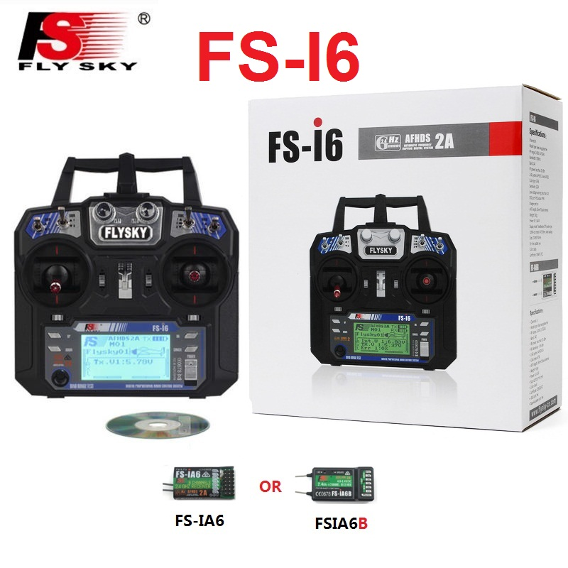 Flysky FS-i6 FS I6 2.4G 6ch RC Transmitter Controller with FS-iA6 IA6B Receiver For RC Helicopter Plane Quadcopter Glider drone rc quadcopter diy robocat drone with camera 270mm fs i6 transmitter emax brushless motor simonk esc cc3d flight controller