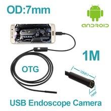 7 мм Объектив Android-Смартфон IP67 Водонепроницаемый micro USB Змея Камера-Эндоскоп Труба Инспекции Камеры 1 М 2 М Кабель USB Бороскоп