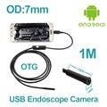 7mm lente da câmera endoscópio ip67 à prova d' água android telefone inteligente micro usb snake inspeção tubo camera 1 m 2 m cabo usb borescope