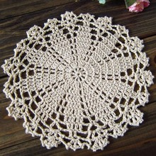 5 pcs/set, Shabby Chic Coaster Placemat Vintage Crocheted Doilies Handmade Lace doily