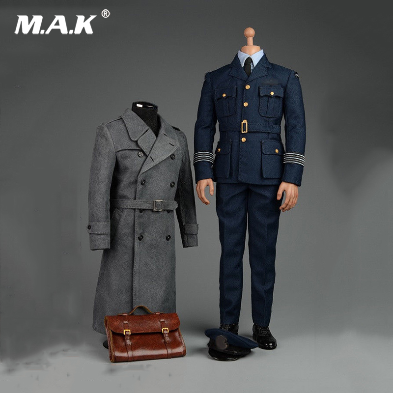 1:6 Scale WWII Allies Commander Windbreaker Uniforms for 12 inches Action Figure Narrow Shoulder Body