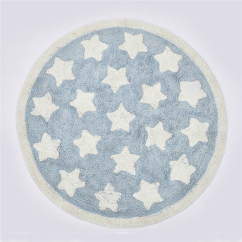 Tapis d'escalade bébé tapis de jeu nouveau-né infantile doux tapis de couchage coton imprimé étoiles tapis de jeu enfants tapis de chambre