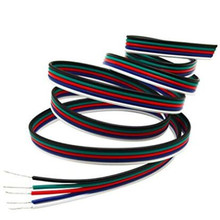5Pin RGBW/RGBWW Led Connector Cable Extension Wire Blue/White/Red/Green/Black For RGBW/RGBWW  LED Stirp