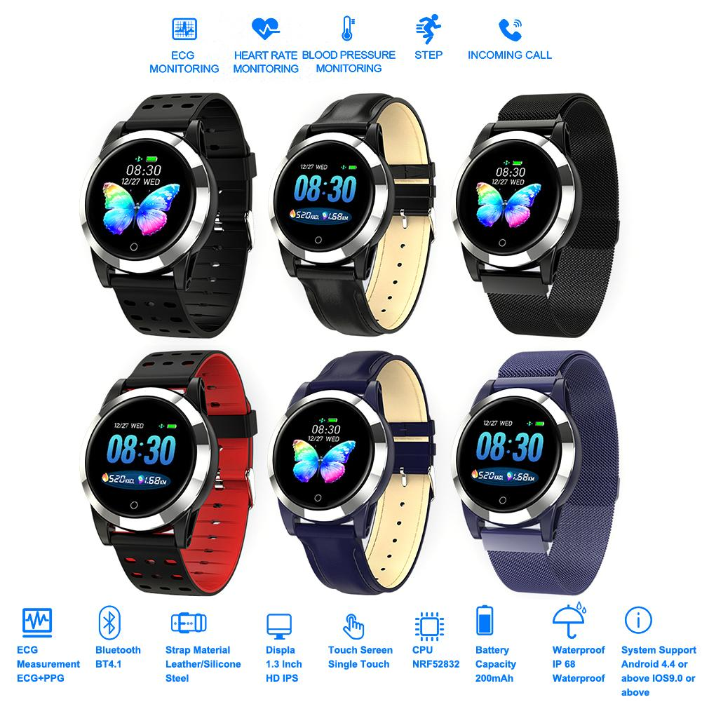 R19 ECG+PPG Smart Watch Heart Rate Blood Pressure Blood Oxygen Monitoring IP67 Waterproof Sports Watch For Android IOS