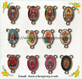 free ship 90pcs/PACK 3 hole baby Guadalupe pendant,lady of Guadalupe rosary part ,guadalupe rosary centerpieces